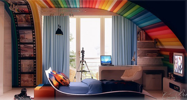 1Rainbow-themed-kids-room-665x357
