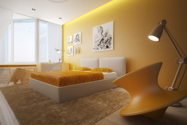 Yellow-white-bedroom-color-scheme-665x442