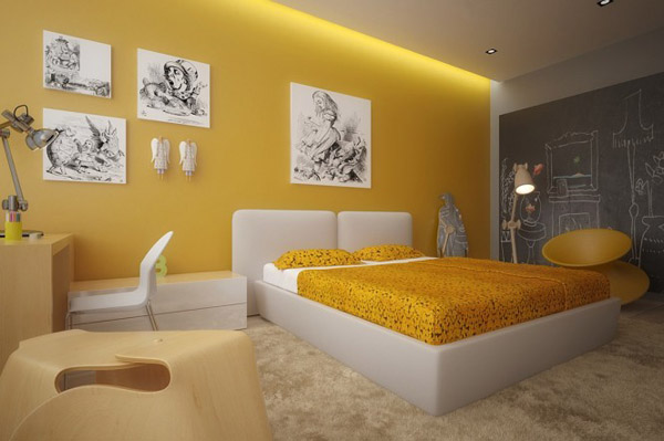 Yellow-white-kids-room1-665x442