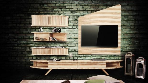 Baffi Mobilya Legno TV Unitesi