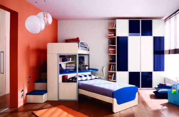 Mavi Renkli Erkek Yatak Odası
