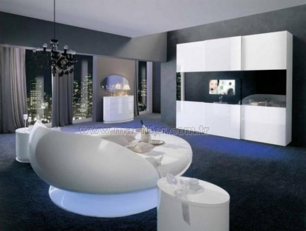 White round Yatak Odası