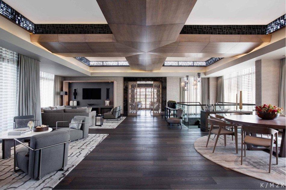 Luxurious Penthouse Dramatic Interior Teras Kat Dekorasyonu Dublek Ev Dekorasyonu At Kat Tasar M