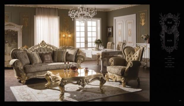kral  Klasik Oturma Odası