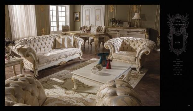 new manchester  Klasik Oturma Odası