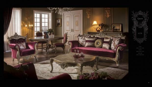 queen  Klasik Oturma Odası