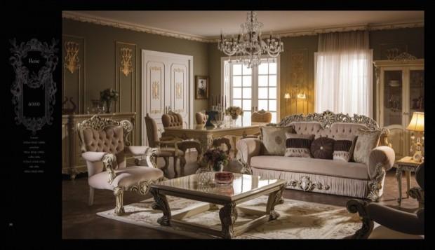 rose  Klasik Oturma Odası