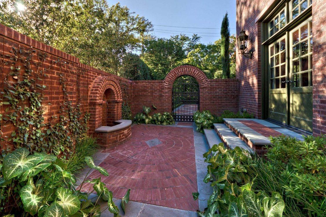 Brick Wall Fence Front Yard Design