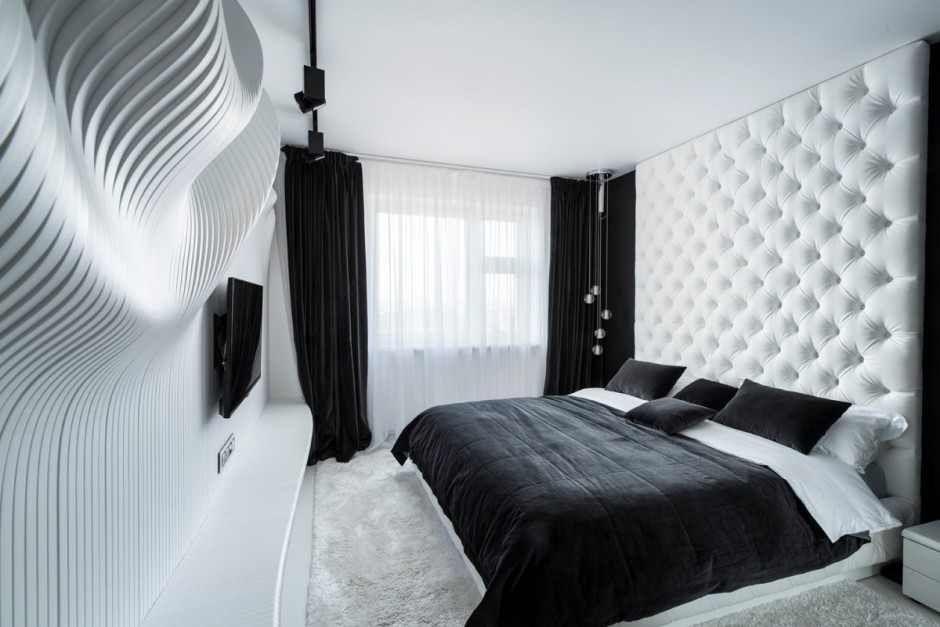 Siyah Beyaz Yatak Odası Tasarımı