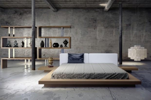 amazing platform bed 620x411 En Şık Yatak Odası Modelleri