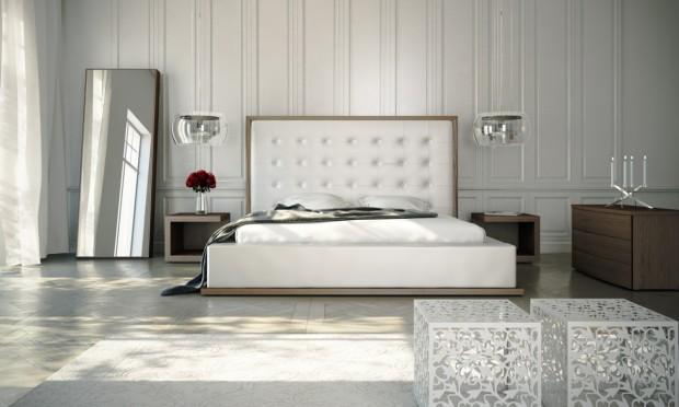 tufted headboard 620x372 En Şık Yatak Odası Modelleri