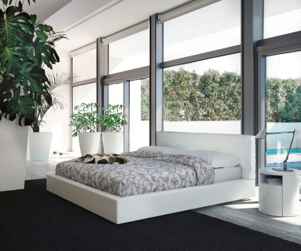 white bedroom ideas 620x518 En Şık Yatak Odası Modelleri