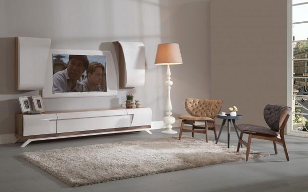 maserati 71 620x387 Modern Yatak Odası, Yemek Odası ve TV Ünitesi Bir Arada