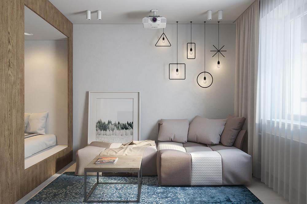 30 metre kare minimal bir daire mobilya g nl for 2 1 salon dekorasyonu