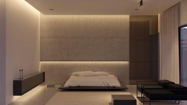 Gri Renkli Yatak Odası